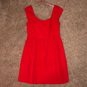 NWOT American Eagle Red Bow-Tie Back Dress